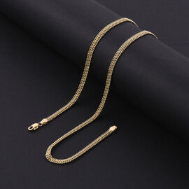 Royal Bali Collection - 9K Yellow Gold Triple Curb Necklace (Size 20) with Lobster Clasp, Gold wt. 5.15 Gms