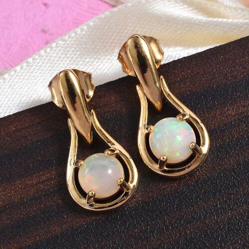 Ethiopian Welo Opal Drop Earrings in 14K Gold Overlay Sterling Silver 1.00 Ct.