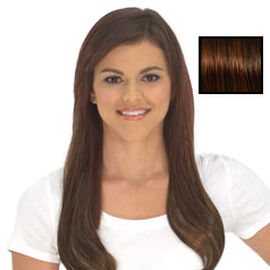SECRET EXTENSIONS-Virtually Invisible Headband in Medium Red Brown Color