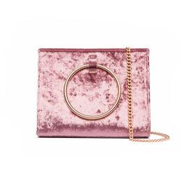 Abbott Lyon - Moda Velvet Top Handle Bag - Dusky Rose