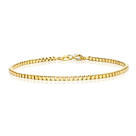 JCK Vegas Collection 9K Yellow Gold Box Bracelet (Size 7.5)
