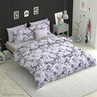 6 Piece Set - Protea Flower Pattern Comforter, Fitted Sheet, 2 Pillow Case and 2 Envelope Pillow Cas
