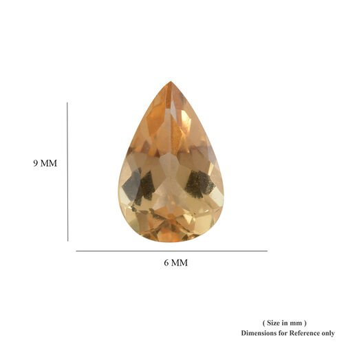 AA Imperial Topaz Pear 8.89x5.83x3.55 Faceted 1.10 Cts