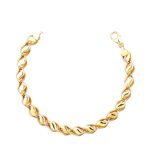 Vicenza Collection 9K Yellow Gold Fancy Bracelet (Size 7 with 1 Inch Extender), Gold wt 4.40 Gms.