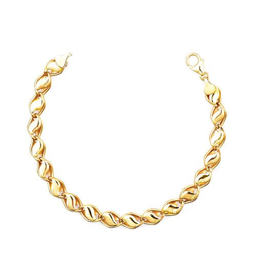Vicenza Collection Designer Inspired 9K Yellow Gold Necklace (Size 18 with 2 Inch Extender), Gold wt. 10.29 Gms.