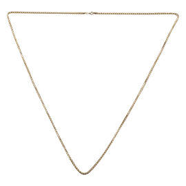 9K Yellow Gold Diamond Cut Spiga Necklace (Size 36), Gold wt 15.20 Gms