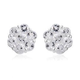 Petalite (Rnd) Stud Earrings (with Push Back) in Sterling Silver 2.00 Ct.