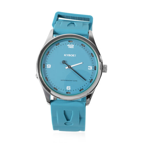 KYBOE Evolve Collection - Tile Blue Slimline 41MM LED Watch- 100M Water Resistance