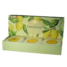 The English Soap Company:  Classic Gift Boxed Soap - Lemon & Mandarin (3 x 100g)