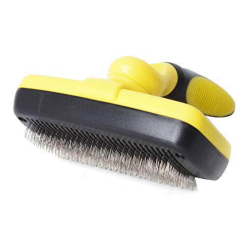 Yellow and Black Colour Slicker Brush (Size 18x12 Cm)