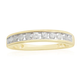 Limited Edition- 9K Yellow Gold SGL Certified Diamond (Rnd) (I3/G-H) Ring 0.750 Ct.