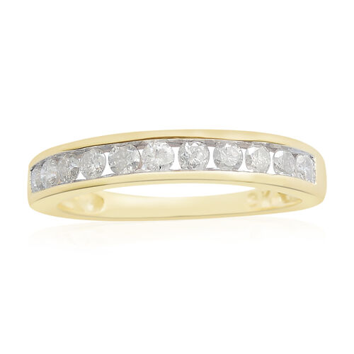 Diamond (0.75 Ct) 9K Y Gold Ring  0.750  Ct.
