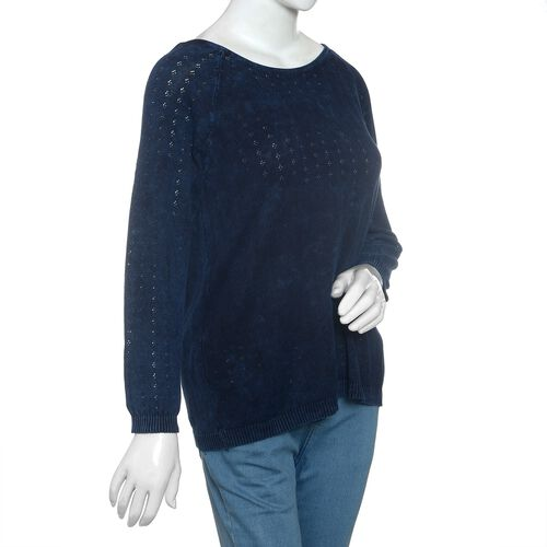 Close Out Deal 100% Cotton Navy Colour Knitted Apparel - L