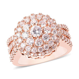 Simulated Diamond Ring in Rose Gold Tone