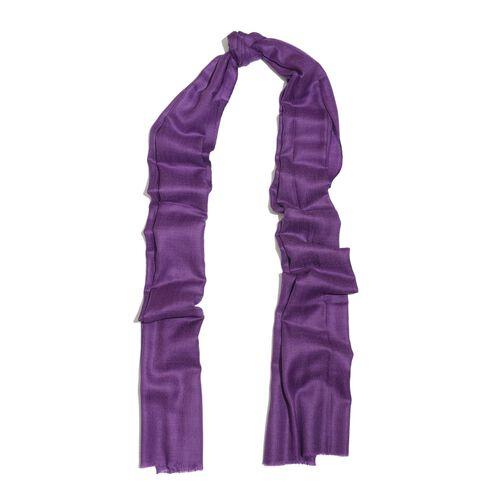 100% Cashmere Wool Purple Colour Shawl (Size 200x70 Cm)