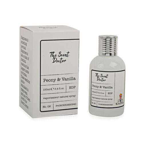 The Scent Doctor: Peony and Vanilla Eau De Parfum - 100ml