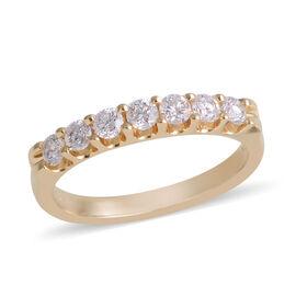 NY Close Out 14K Yellow Gold Diamond (Rnd) (I1-I2/G) Ring 0.500 Ct.