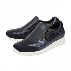 DOD - Lotus Navy Leather & Snake Sian Casual Trainers