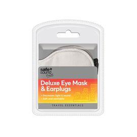 Deluxe Eye Mask & Ear Plugs (Size 18X9 Cm)
