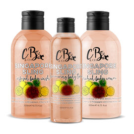 CB and CO Singapore Sling Cocktail Set - Body Tonic, Body Lotion and Body Wash Estimated Dispatch 3-