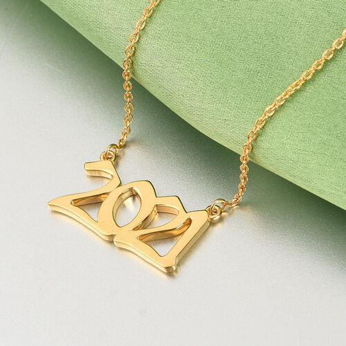 Personalised Birth Year Necklace with Chain