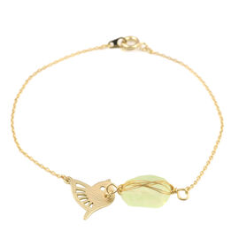 Bird Bracelet (Size 7.5) in Yellow Gold Overlay