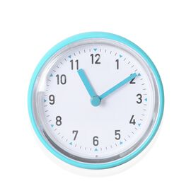 Rain - Shower Proof Clock with Vaccum Suction Mechanism Turquoise Colour