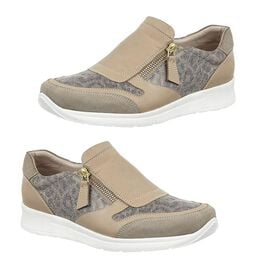 Lotus Stressless Leather Alicante Trainers in Natural