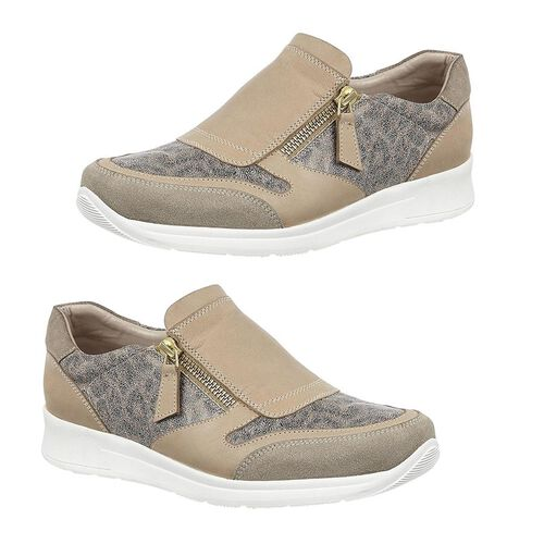 Lotus Stressless Leather Alicante Trainers (Size 3) - Natural