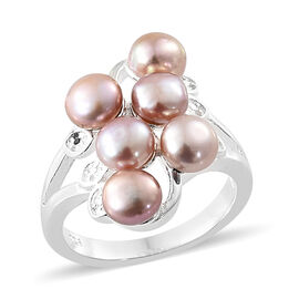 Freshwater Pink Pearl (Rnd) Ring in Sterling Silver