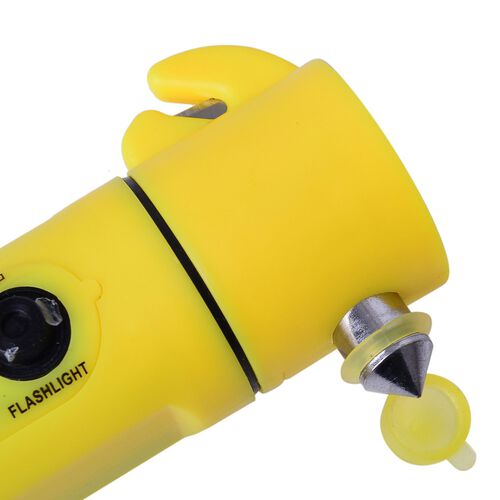 Yellow and Black Colour Multi Functional Hammer with LED Flashlight (Size 19.30X6.98X3.98 Cm)
