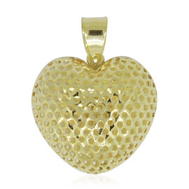 Surabaya Gold Collection - 9K Yellow Gold Diamond Cut Heart Pendant
