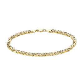 Vicenza Collection Byzantine Chain Bracelet in 9K Yellow Gold 7.5 Inch