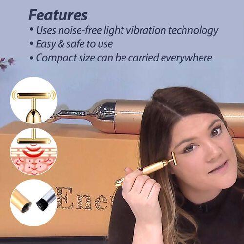 24 Carat Gold Plated Facial Roller