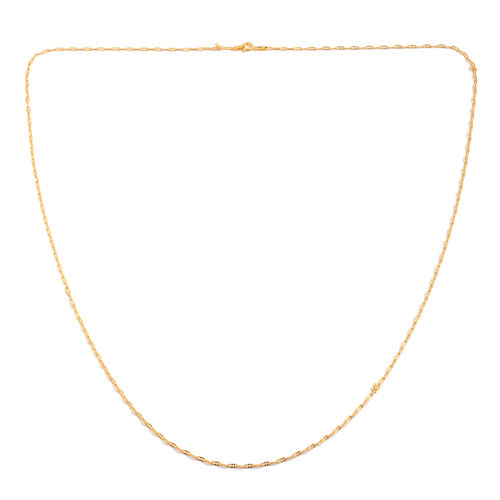 Vicenza Collection 14K Gold Overlay Sterling Silver Hammered Chain (Size 30), Silver wt. 3.81 Gms.