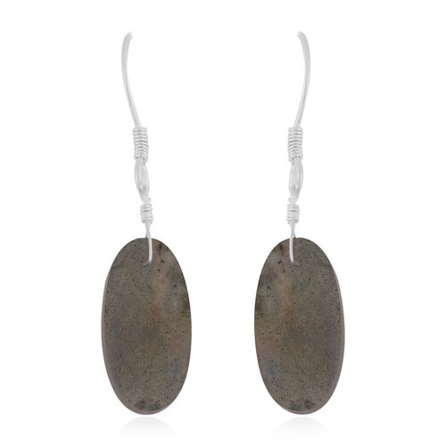 Labradorite Hook Earrings in Sterling Silver 17.25 Ct.