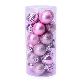 Christmas Tree Decoration Ball Set (24 Pcs) - Purple