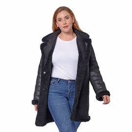 Reversible Winter Coat (Size 57x90cm) - Black