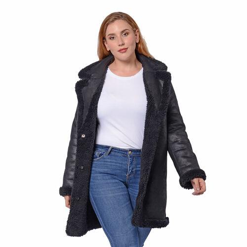 Reversible Winter Coat (Size 57x90cm) - Black