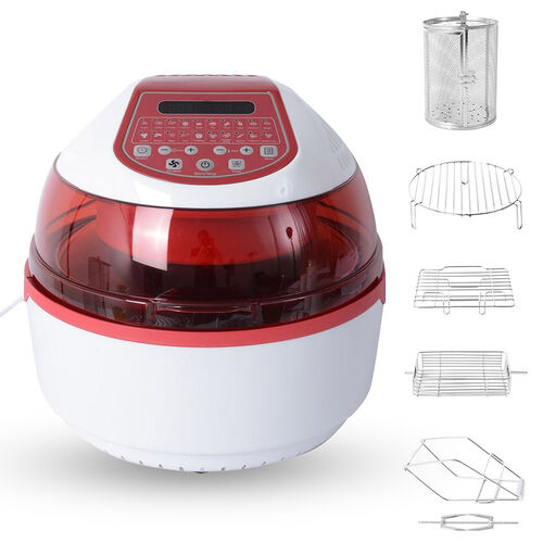 20 in 1 Air Fryer (Size 43x35x34 Cm) -10 Litre Capacity -  Red and White Colour