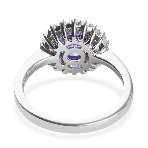 Sunday Child- RHAPSODY 950 Platinum AAAA Tanzanite and Diamond (VS/E-F) Ring  1.75 Ct, Platinum wt. 5.00 Gms