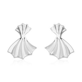 RACHEL GALLEY Rhodium Overlay Sterling Silver Stud Earrings (with Push Back)