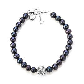 Rachel Galley Fresh Water Pearl (0.00 Ct) Sterling Silver Bracelet (Size 8)  0.001  Ct.