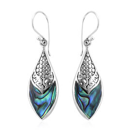 Royal Bali Collection Abalone Shell Hook Earrings in Sterling Silver, Silver wt 3.10 Gms.