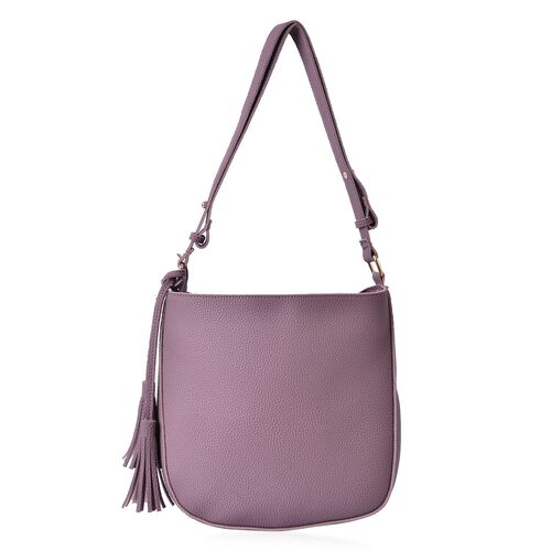 Pink Colour Shoulder Bag with Tassels (Size 29x27x6 Cm)