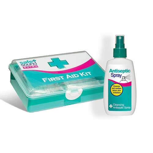 Safe & Sound First Aid Kit & Anti-Septic Spray - 100ml (Set of 2)