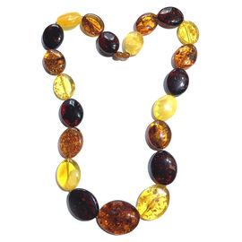 Very Rare Size Natural Baltic Amber Beads Necklace (Size 24)