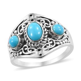 Artisan Crafted Arizona Sleeping Beauty Turquoise Ring in Sterling Silver 1.280 Ct.
