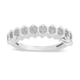 9K White Gold 0.50 Ct Diamond Half Eternity Ring SGL Certified (I3/G-H)