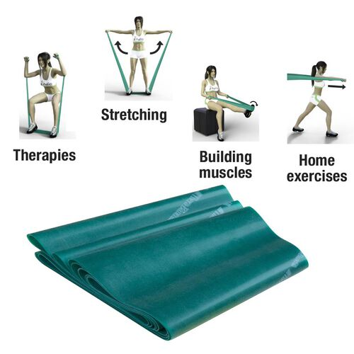 Thera-band Exercise Band in zipper Bag (2.5m) - Green